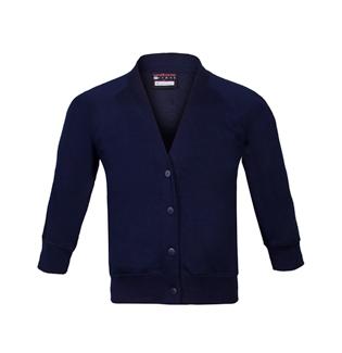 6f49ab1fab7 Girls School Sweatshirt Cardigan in Navy Blue