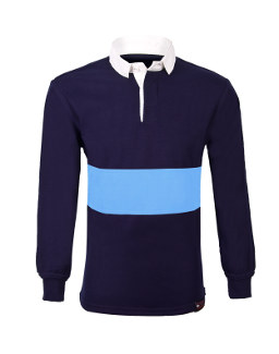 3d15a6513685c Royal Blue Reversible School Rugby Shirt (with Amber Stripe)