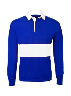Royal Blue Reversible School Rugby Shirt With White Stripe