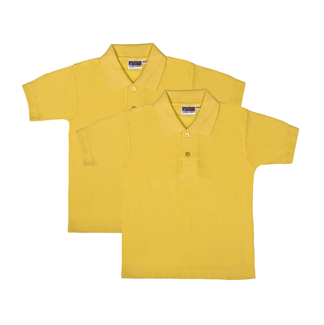 Value YELOW Polo Shirts - TWIN PACK