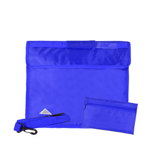 873018944 Deluxe School Book Bag with Strap and Pencil Case in Royal Blue