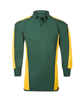 ba026abdbff NEW Reversible Rugby Shirt / Rugby Jersey in Bottle Green / Amber Yellow  for School
